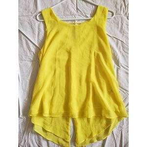 Bright Yellow Open Back Tank
